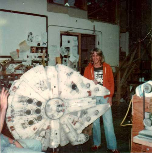 Rick Taylor with the Millenium Falcon