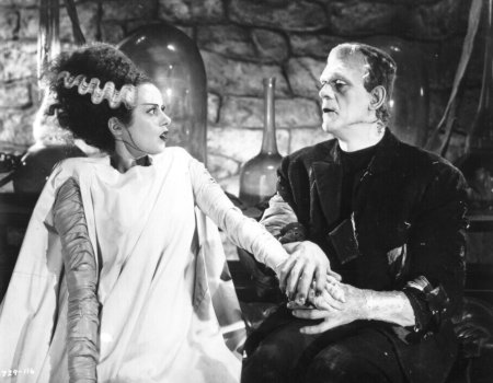 Bride and Frankenstein