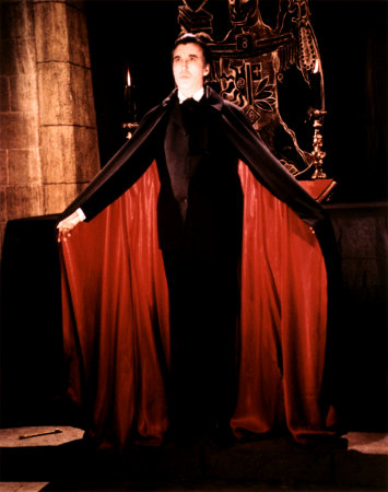 Christopher Lee vampire cape
