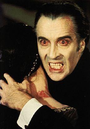 Christopher Lee vampire