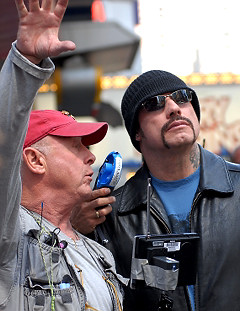 JohnTravolta and Director Tony Scott - photo by Bobby Bank