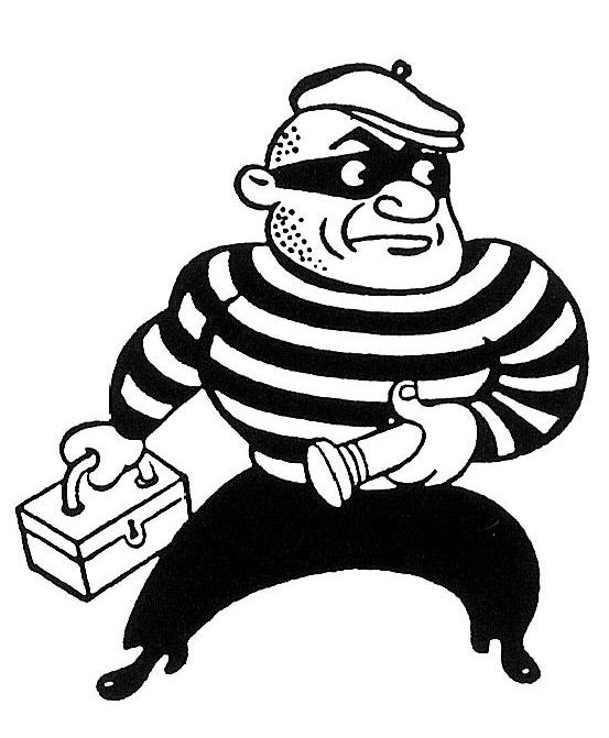 Cartoon Characters Yellow And Black Striped Shirts : Why are burglars associated with striped jerseys