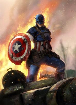 Captain America image art