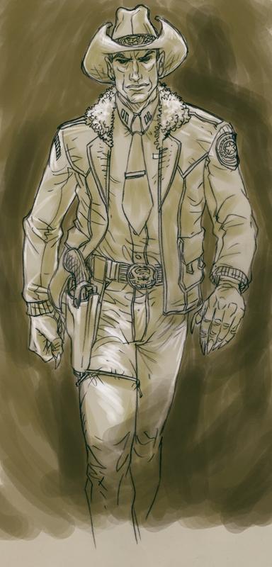 evil vampire Sheriff Nottingham