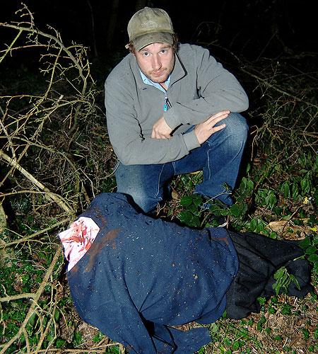 Geoff Searle's dummy sparks murder alert