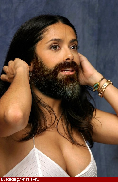 Salma Hayek as the Bearded Lady