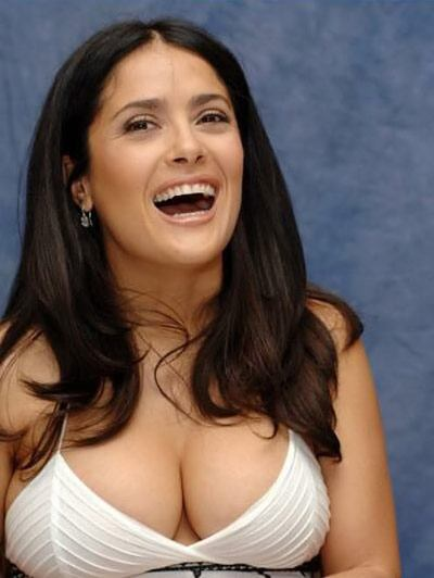 Salma Hayek without the beard