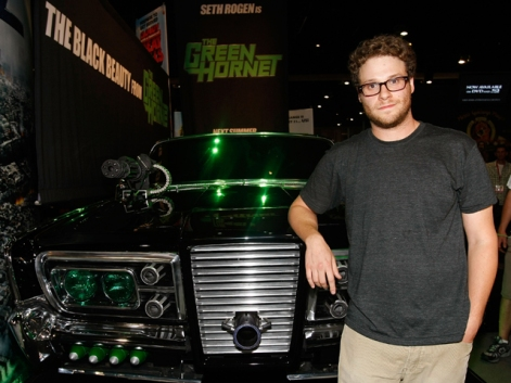 Seth Rogen unveils Green Hornets 'Black beauty' at ComicCon