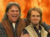 Richard Dean Anderson and Will Forte