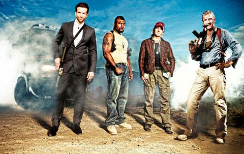 Bradley Cooper, Rampage Jackson and Sarlto Copley and Liam Neeson