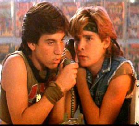 Corey Feldman and Jamison Newlander as the Frog Brothers