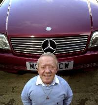 Kenny Baker with one of his Mercedes